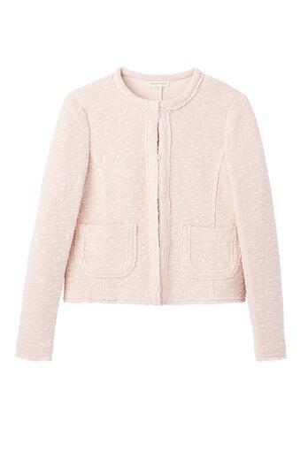 Stretch Bouclé Tweed Jacket