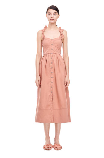 Cotton Midi Dress - Nude Glow