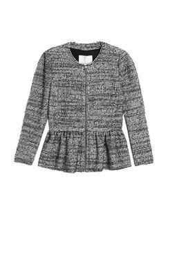 Stretch Tweed Peplum Jacket