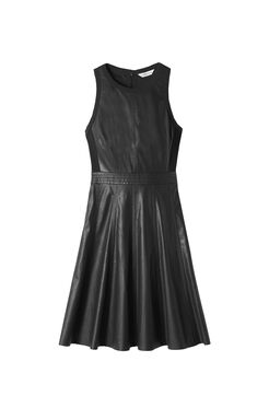 Sleeveless Vegan Leather Dress