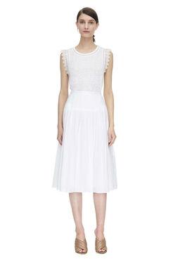 Cotton Voile Skirt - Sea Salt