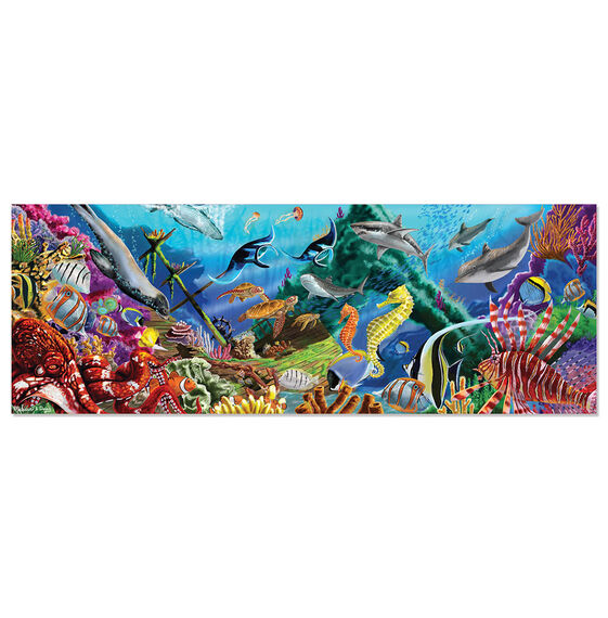 200 piece floor puzzle underwater oasis melissa doug for 100 piece floor puzzles