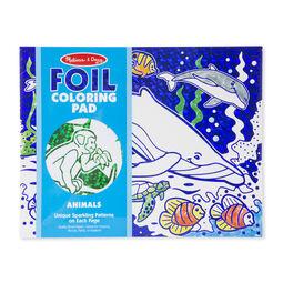 Foil Coloring Pad - Animals