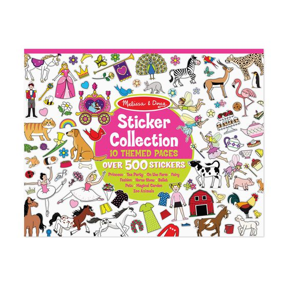 Sticker Collection Book: 500+ Stickers - Princesses, Tea Party, Animals, and More