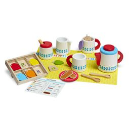 Wooden Steep & Serve Tea Set