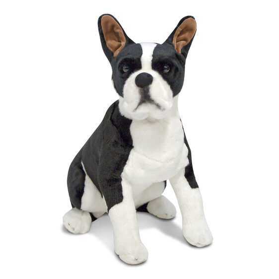 boston terrier dog giant stuffed animal melissa doug. Black Bedroom Furniture Sets. Home Design Ideas