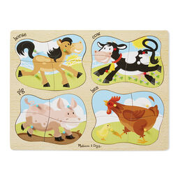 4-in-1 Peg Puzzle - Farm