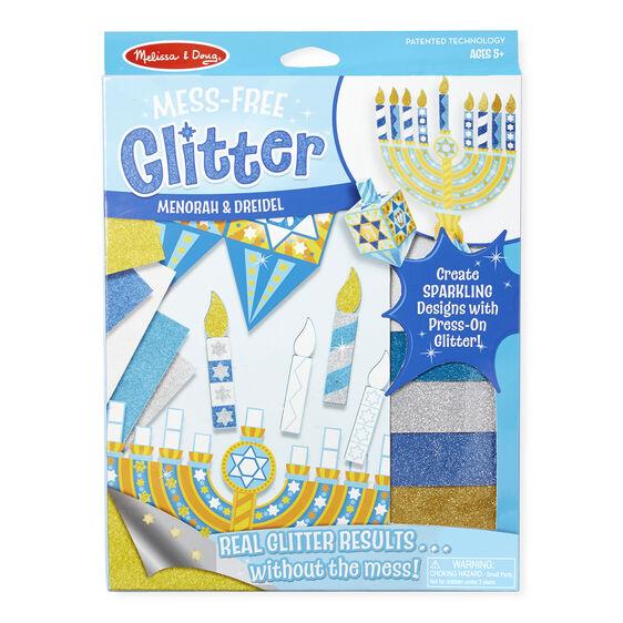 Mess free glitter menorah dreidel melissa doug for Menorah arts and crafts