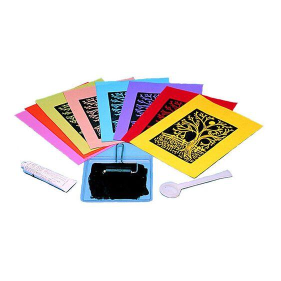 """Scratch Art Subi Block Printing Paper Colors (40 sheets 12"""" x 18"""")"""