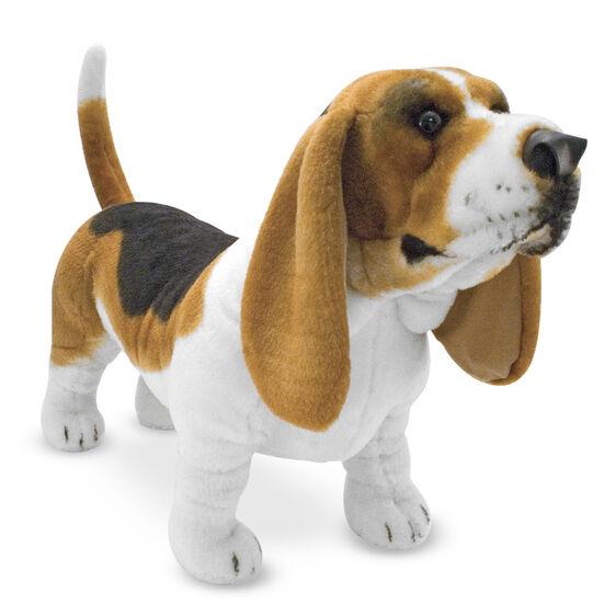 basset hound dog giant stuffed animal melissa doug. Black Bedroom Furniture Sets. Home Design Ideas