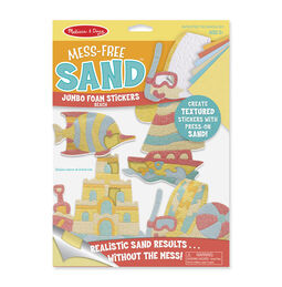 Mess-Free Sand Jumbo Foam Stickers - Beach