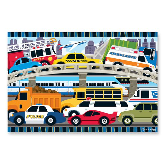 Traffic Jam Floor Puzzle - 24 Pieces
