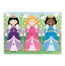Dress-Up Princesses Peg Puzzle - 9 Pieces