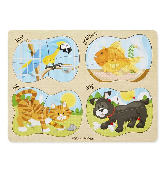 4-in-1 Peg Puzzle - Pets