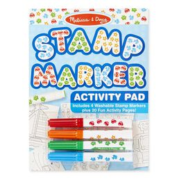 Stamp Markers and Activity Pad - Stars, Fish, Cars, and Frogs