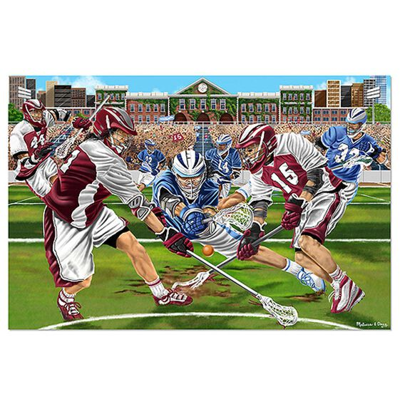 LAX Check! Lacrosse Floor Puzzle - 48 Pieces