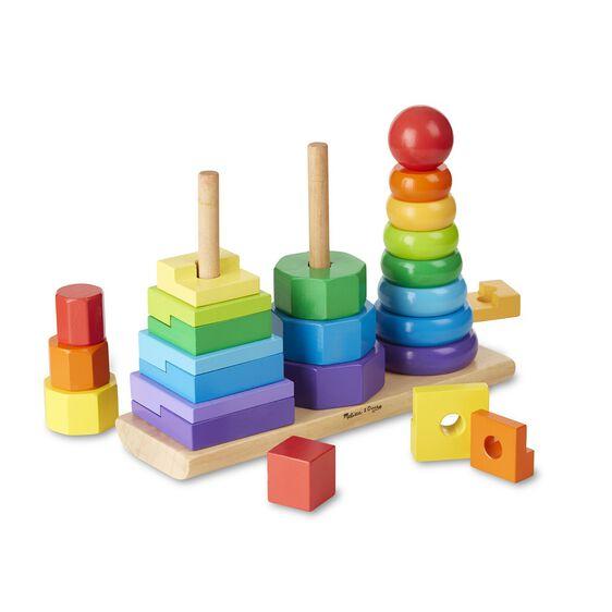 Melissa And Doug Educational Toys : Geometric stacker toddler toy melissa doug