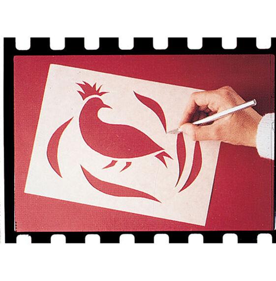 "Scratch Art Wax-O Stencil Paper (12 sheets 9"" x 12"")"