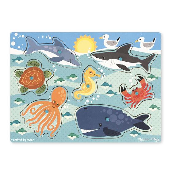 Image result for Melissa & Doug Peg Puzzles Sea Creatures