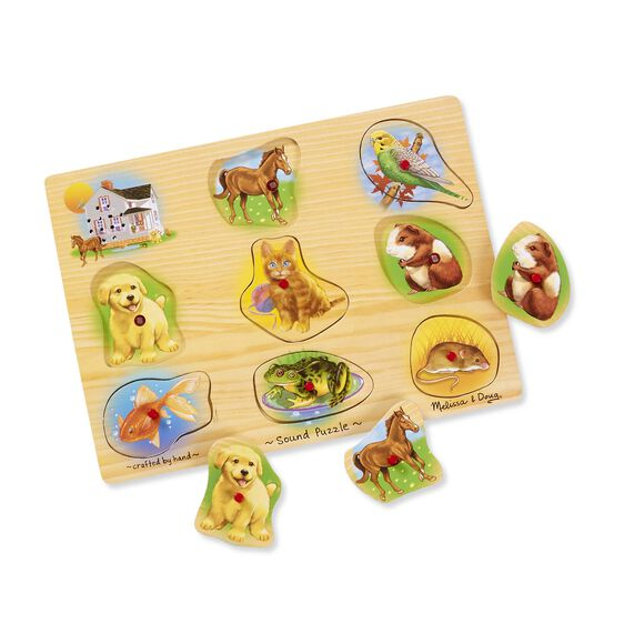 Pets Sound Puzzle - 8 Pieces