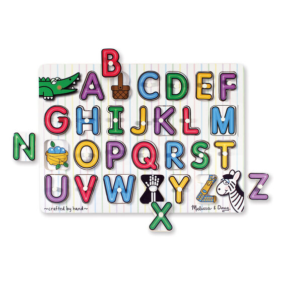 See Inside Alphabet Peg Puzzle 26 Pieces Melissa Amp Doug