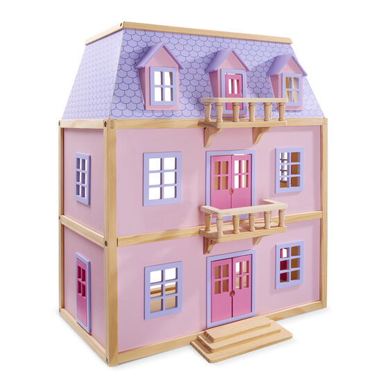 Multi Level Solid Wood Dollhouse Melissa Amp Doug