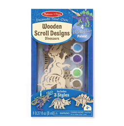 Decorate-Your-Own Wooden Scroll Designs - Dinosaurs