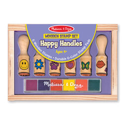 Wooden Stamp Set - Happy Handles
