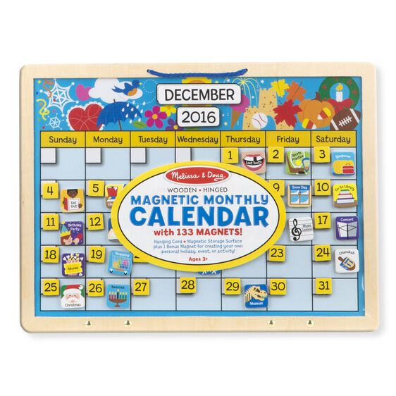 Weekly Calendar Magnet : Monthly magnetic calendar melissa doug