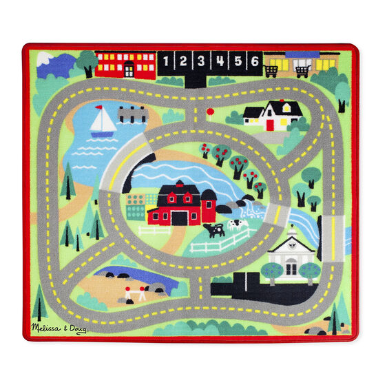 Round The Town Road Rug Amp Car Set Melissa Amp Doug