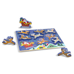 Santa & Reindeer Chunky Puzzle - 9 Pieces