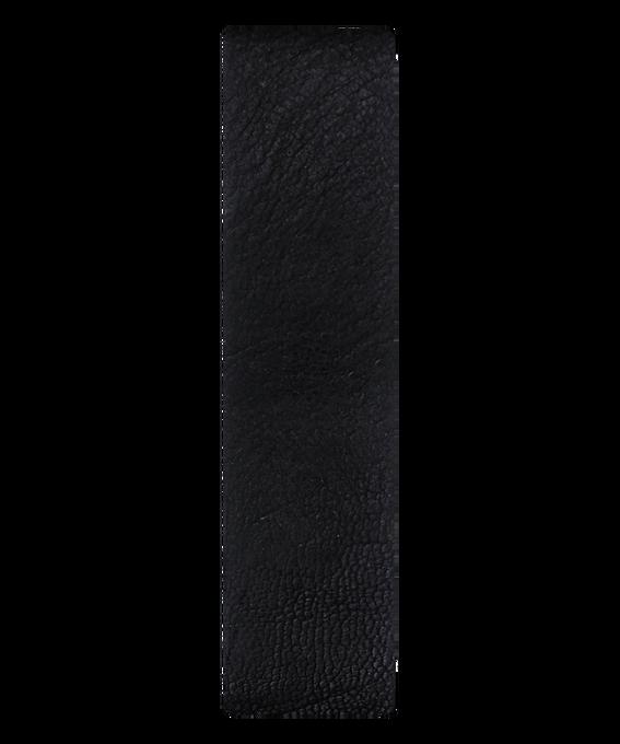 Black / Bronze Edge Leather Slip-thru Strap  large