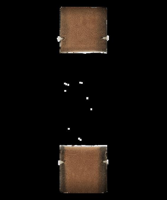 Tan Leather 2-piece Strap  large
