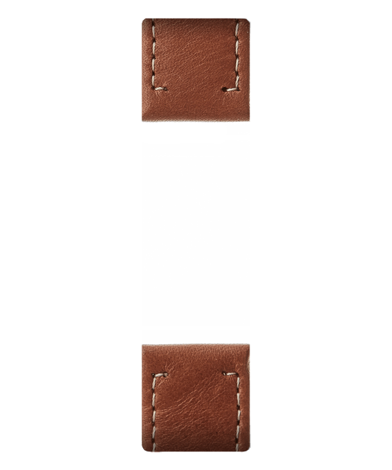 Brown Leather 2-piece Strap  large