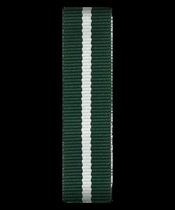 Green/White Nylon Slip-thru Strap  large