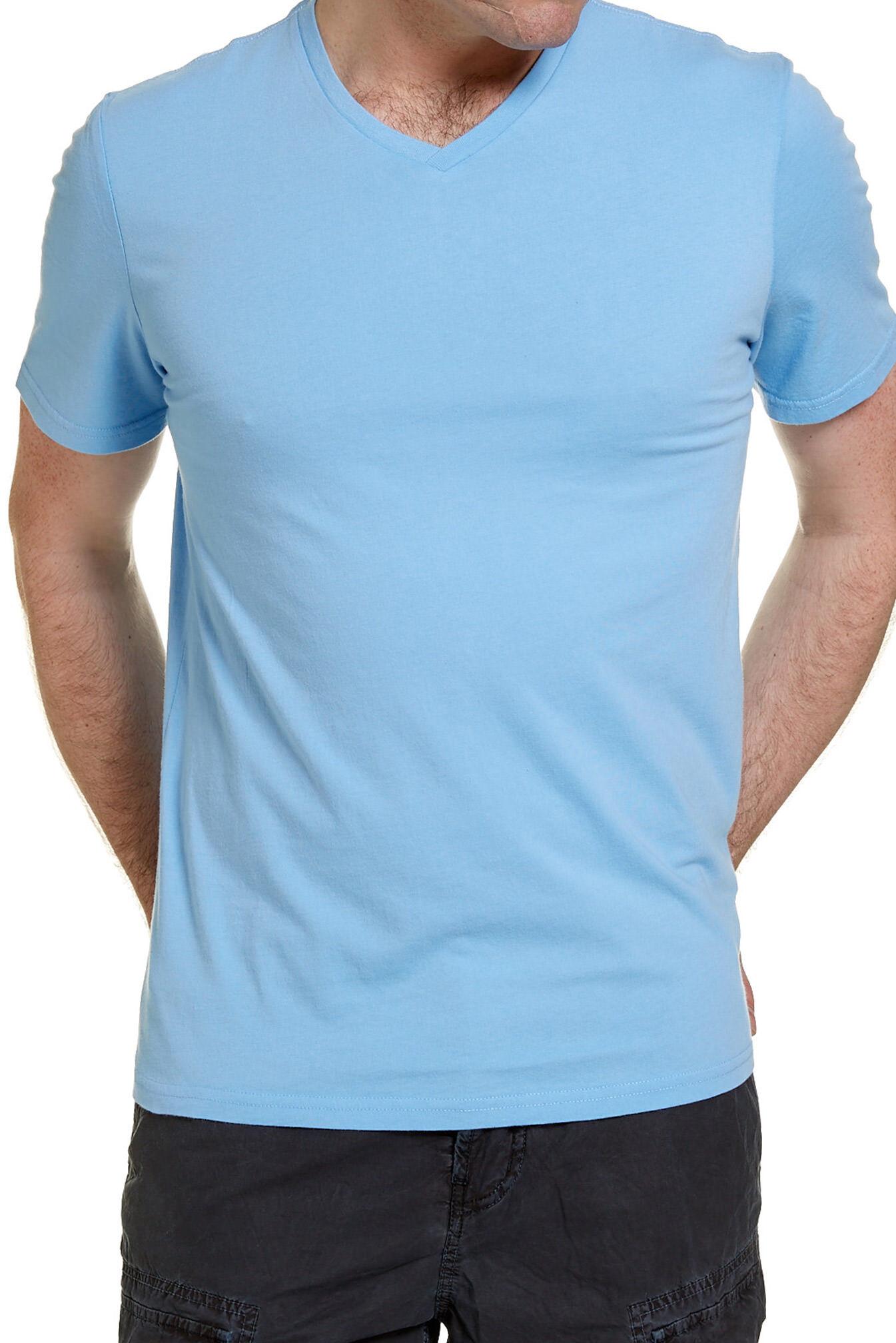 NEW-JAG-MENS-BASIC-V-NECK-TEE-T-Shirts