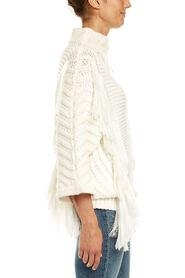 CABLE FRINGED KNIT