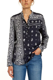 EXPLODED PAISLEY PRINT BLOUSE