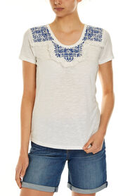 MOSAIC EMBROIDERED TEE