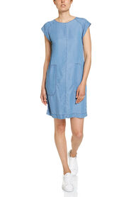 INDIGO SHIFT DRESS
