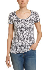 ALL OVER LACE PRINT TEE