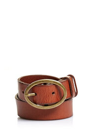 OILY LEATHER BELT