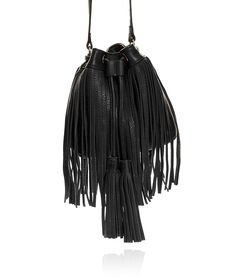 FRINGED BUCKET BAG