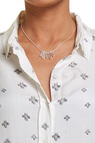 Two Tone Necklace - Silver