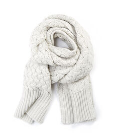 Cable Scarf - Oatmeal