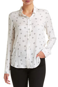 Cross Print Blouse