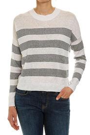 Linen Blend Stripe Knit