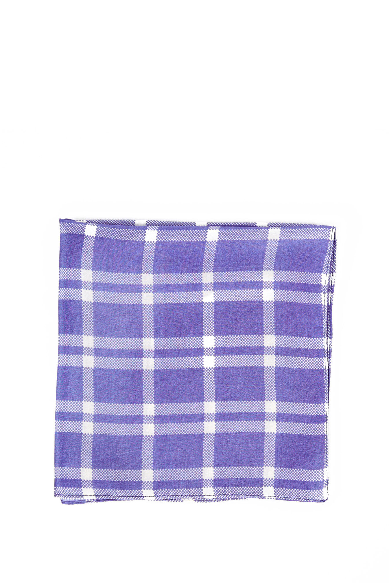 saba male plaid print pocket squareblueonesize