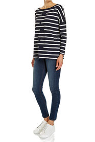 ROMY STRIPE LONG SLEEVE TOP