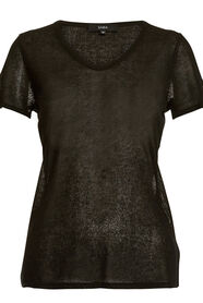 CARLA SHEER SHORT SLEEVE TOP